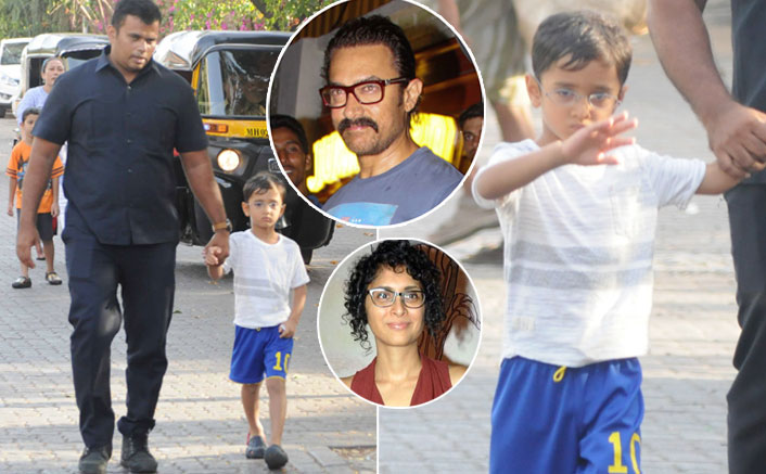 Aamir Khan's Youngest munchkin Azad Rao Goes for a Stroll
