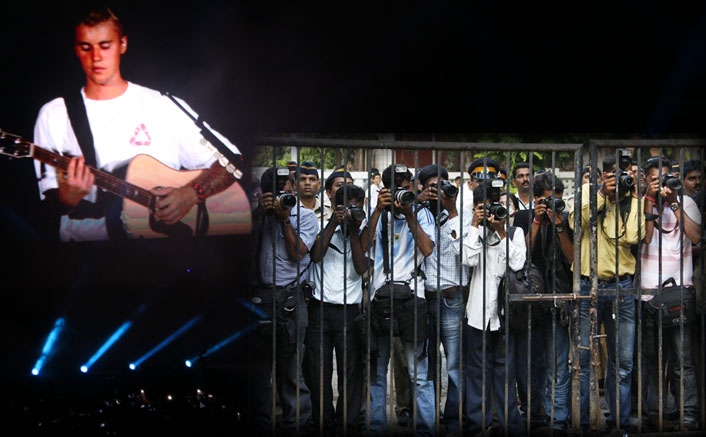 Media persons face tough time in covering Bieber show