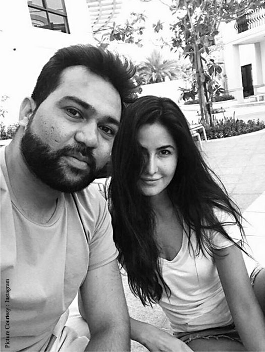 Katrina posing with the film's director Ali Abbas Zafar