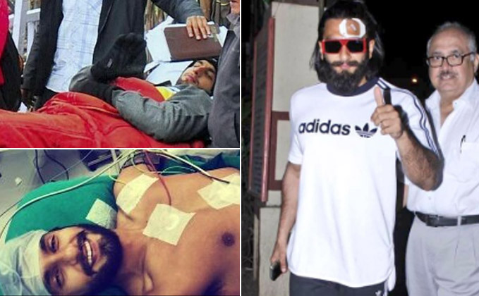 Ranveer Suffers Injury On Padmavati Shoot, Continues Shooting Despite It