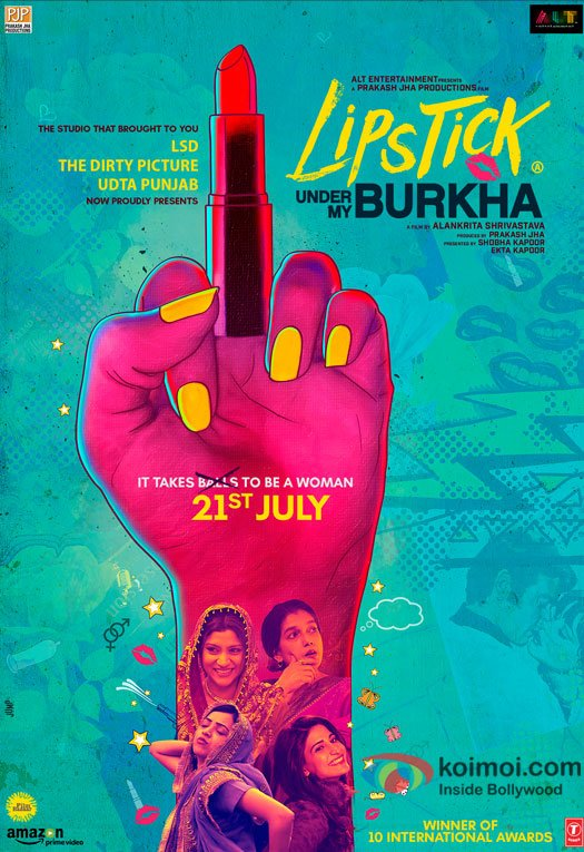 The Powerful Poster of Lipstick Under My Burkha!