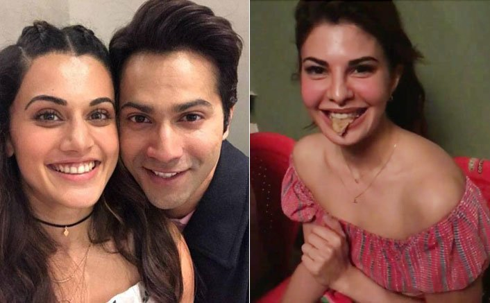 Jacqueline Enters The Punjabi Gang Of Taapsee & Varun On The Sets Of Judwaa 2