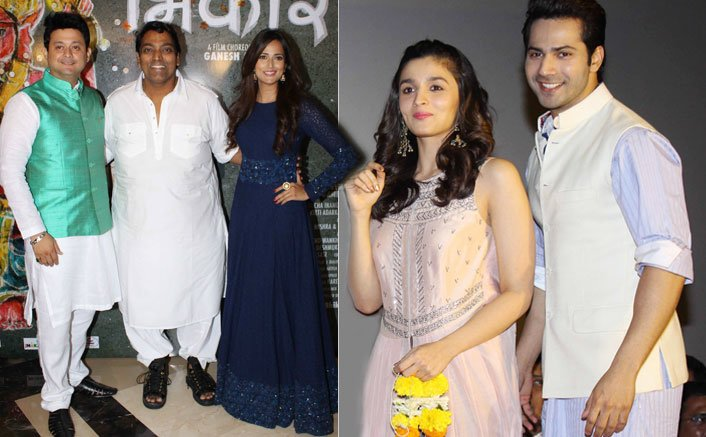Snapped: Varun Dhawan And Alia Bhatt At Marathi Film Bhikari Song Launch