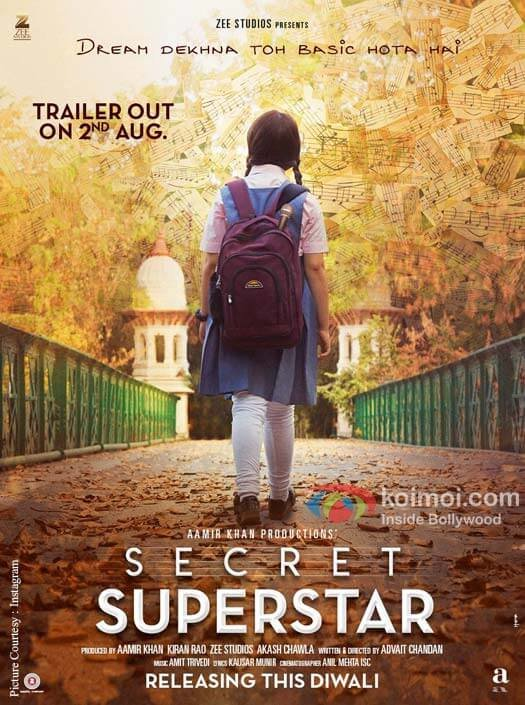 Aamir Khan's Production 'Secret Superstar's New Poster