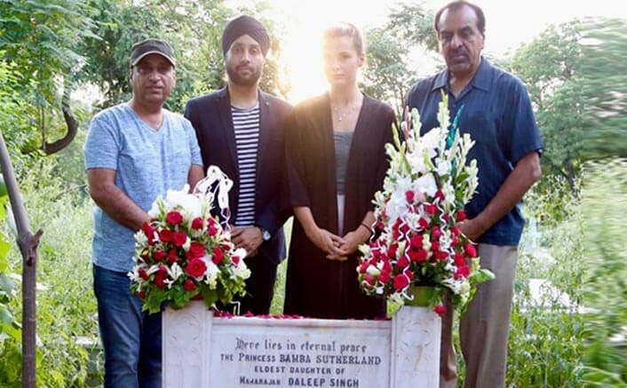 The Black Prince's Director and Team visit Bamba Sutherland's Grave
