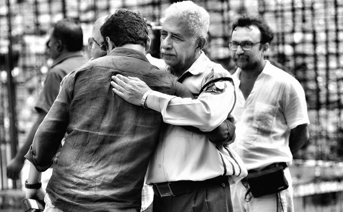Neeraj Pandey welcomes Naseeruddin on 'Aiyaary' set