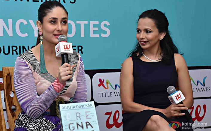 Rujuta Diwekar 'Pregnancy Notes: Before, During and After book was unveiled in the presence of new-mom Kareena Kapoor Khan.