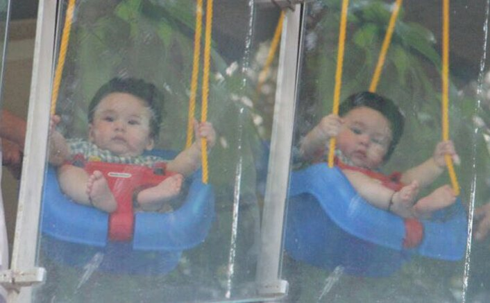 Saifeena's Baby Taimur Ali Khan seen Chilling on a Lazy Afternoon