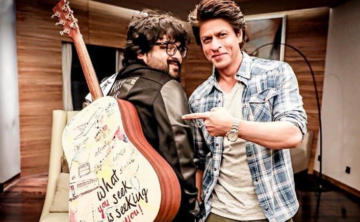 Shah Rukh Khan gifts Pritam a Guitar to mark their musical 'Safar'
