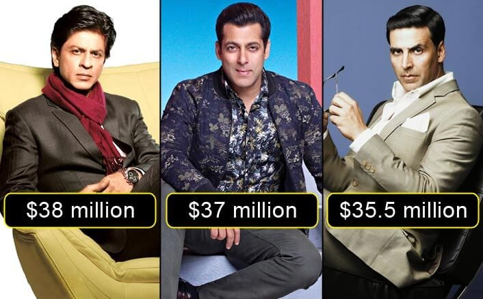 SRK, Salman And Akshay Enter The Top 10 Highest Paid Actors Of The World List. Where is Aamir Khan?