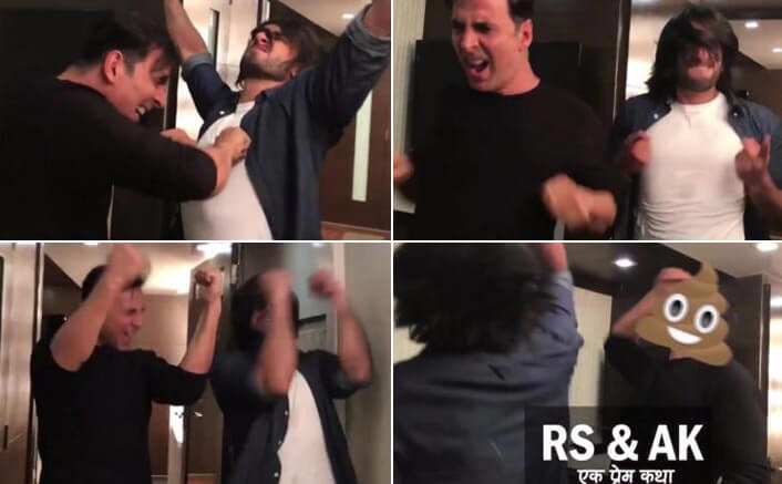 Look How Akshay & Ranveer Celebrated Toilet Ek Prem Katha's Success With A Hilarious Dance