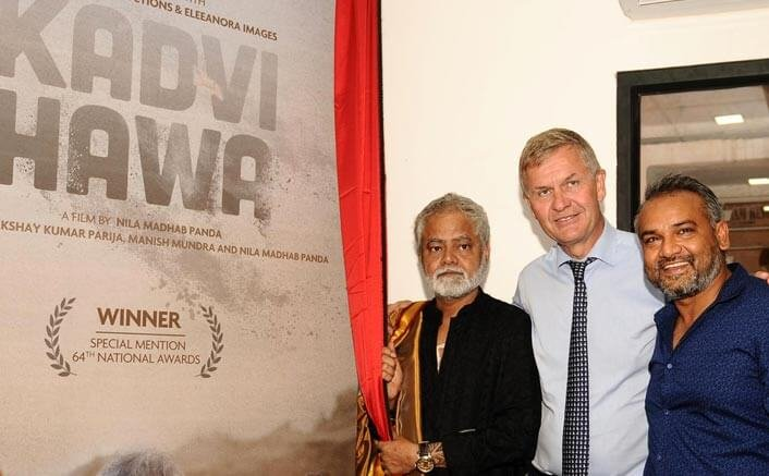 Sanjay Mishra starrer KADVI HAWA's first look unveiled by UN Under Secretary General and Executive Director of UN Environment, Erik Solheim