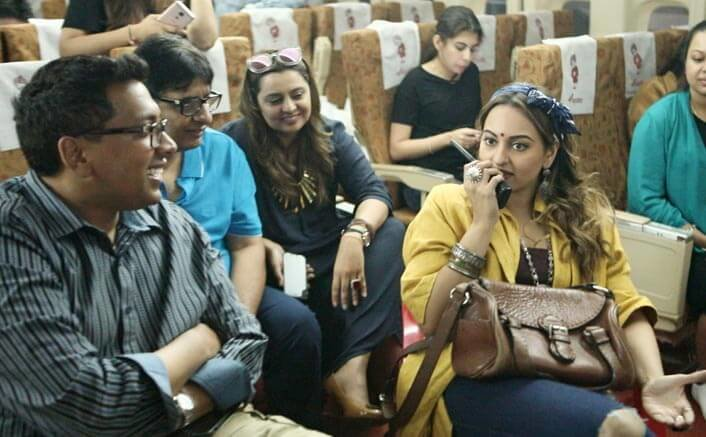 Sonakshi Sinha turns prankster on the sets of Vashu Bhagnani's next!