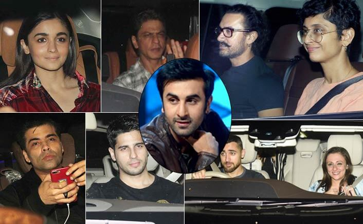 Bollywood Celebs Register Full Attendance At Ranbir Kapoor's grand birthday bash
