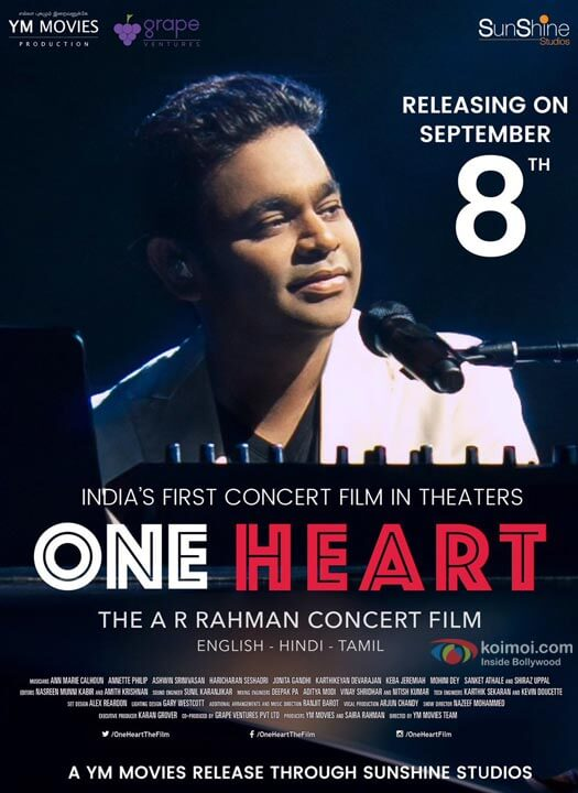 A.R. Rahman's One Heart : The A.R. Rahman Concert Film Is Expected To Be One Of A Kind