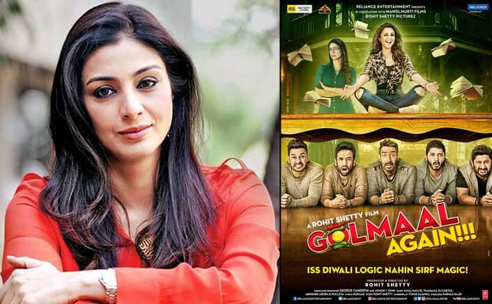Tabu signed 'Golmaal Again' without reading script