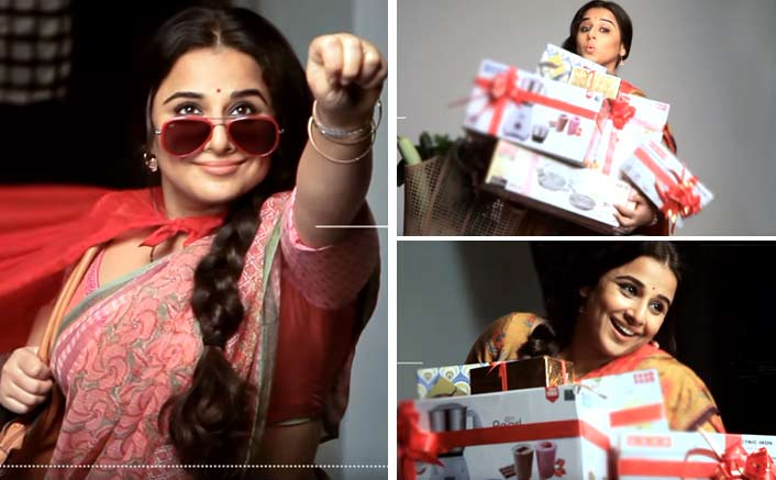 Vidya Balan Is All Fun & Games In Tumhari Sulu Poster Making