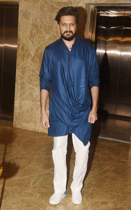 Riteish Deshmukh At Ramesh Taurani's Diwali Party
