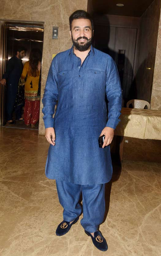 Raj Kundra At Ramesh Taurani's Diwali Party