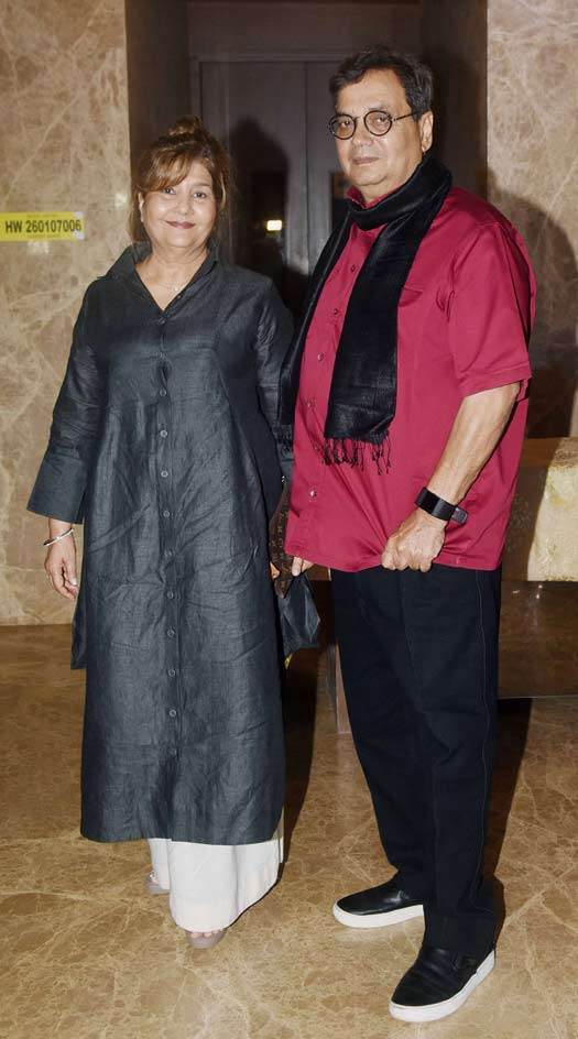 Mukta Ghai and Subhash Ghai At Ramesh Taurani's Diwali Party