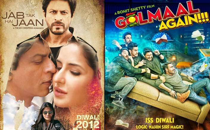 Diwali Releases! From Jab Tak Hai Jaan To Golmaal Again: Report Card Of Last 5 Years