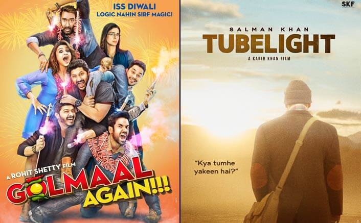 Golmaal Again Beats Salman Khan's Tubelight In The List Of Highest Grossing Films Of 2017