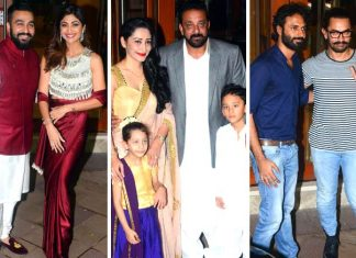 Sanjay Dutt's Diwali Party Had Ahuge Gues List! See Who All Made It To The Party