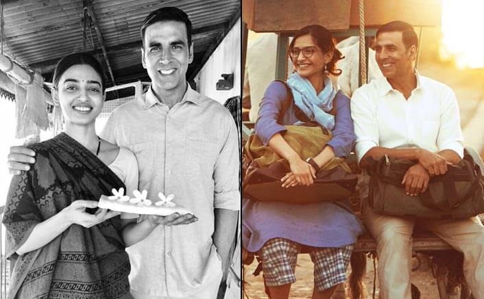 Akshay Kumar strikes a pose with his two leading ladies in his new tweet!