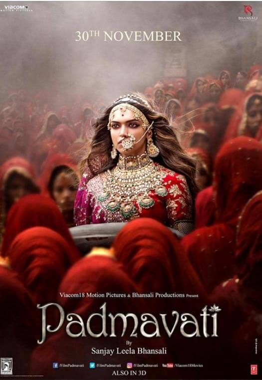 New Poster! This Is Where Padmavati Will Release On November 30