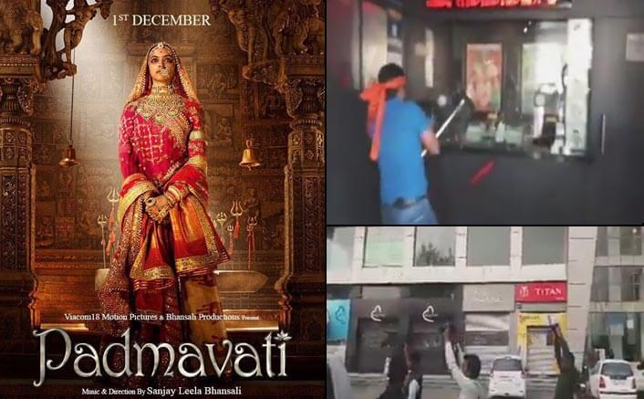 VIDEO: Padmavati Row! Karni Sena Activists Destroy A Theatre In Rajasthan