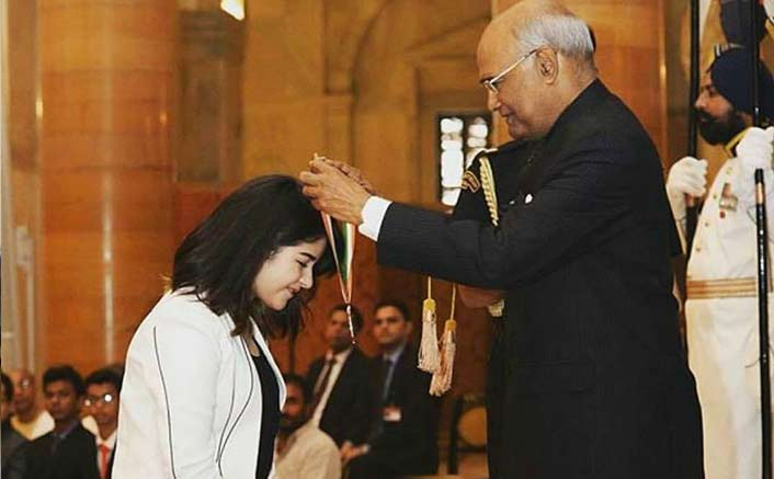 Zaira Wasim receives her second National Award for Secret Superstar