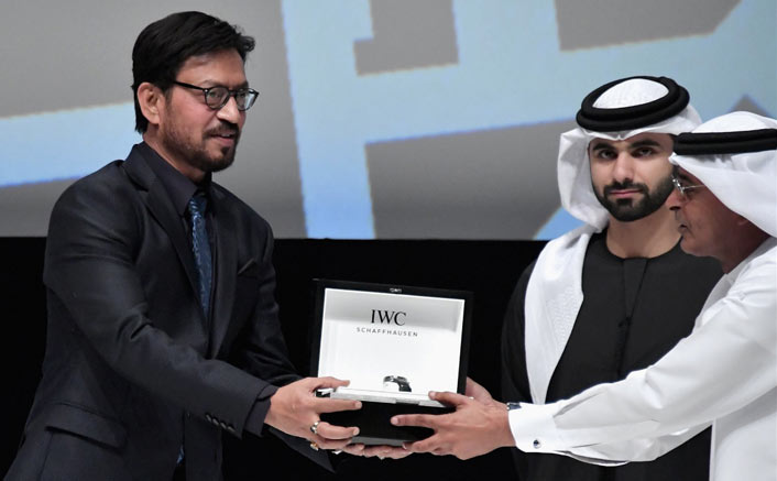 Irrfan Khan honoured at Dubai Film Fest