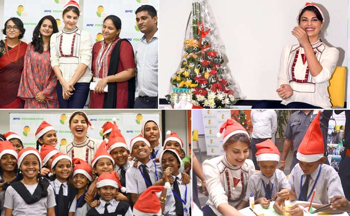 Jacqueline Fernandez' unique Christmas celebration with NGO kids