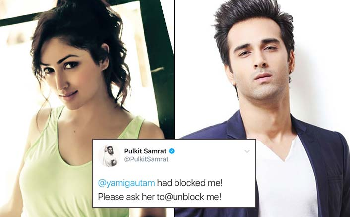 Pulkit Samrat Urges His Fans To Request Yami Gautam To Unblock Him