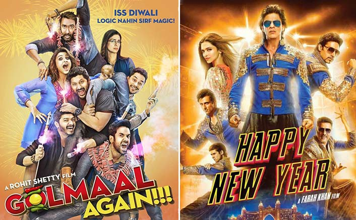Rohit Shetty Beats Shah Rukh Khan As Golmaal Again Crosses Happy New Year