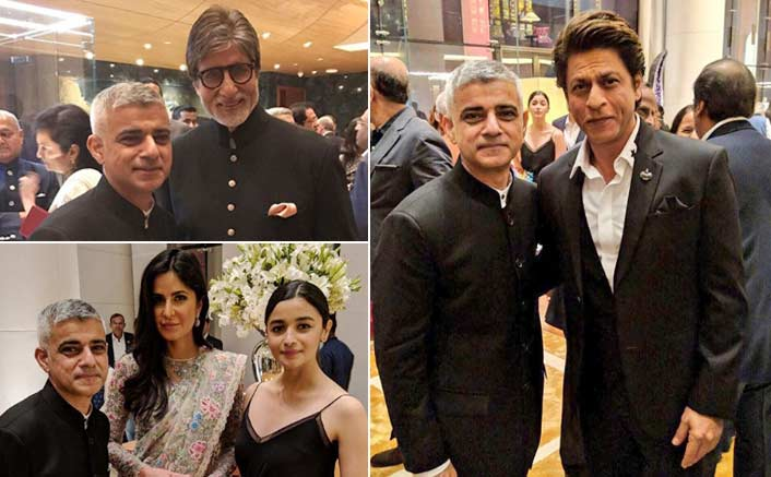 See Pics! Big B, Shah Rukh Khan, Katrina Kaif Welcome London Mayor Sadiq Khan In Mumbai