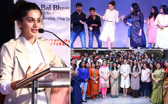 Taapsee lends support to her school teachers achievement