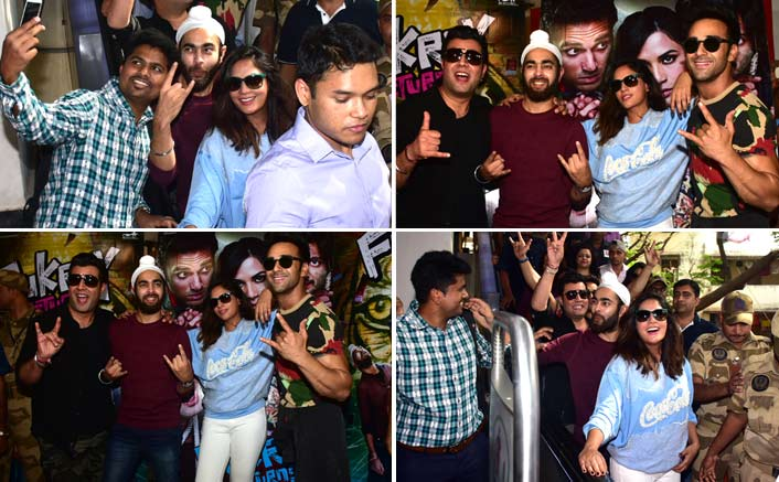Team Fukrey Returns promote their film at Metro Station!