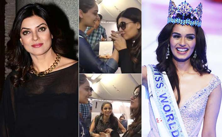 VIDEO! This Is What Happened When Sushmita Sen Met Manushi Chillar