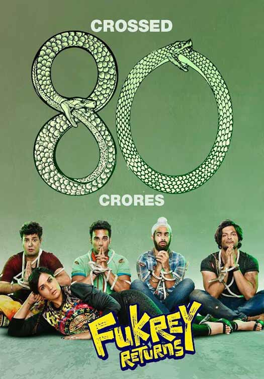 'Fukrey Returns' crosses 80 crore