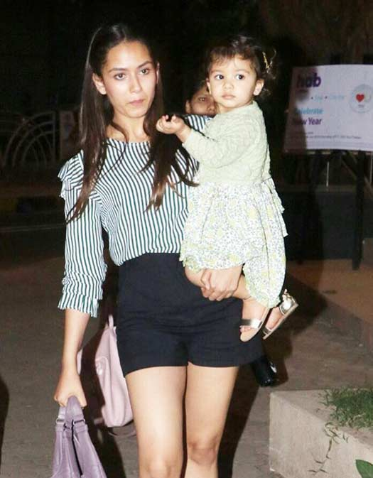 Mira Rajput was spotted with daughter Misha