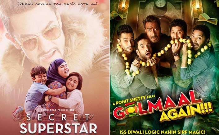 Secret Superstar Beats Golmaal Again At The Worldwide Box Office
