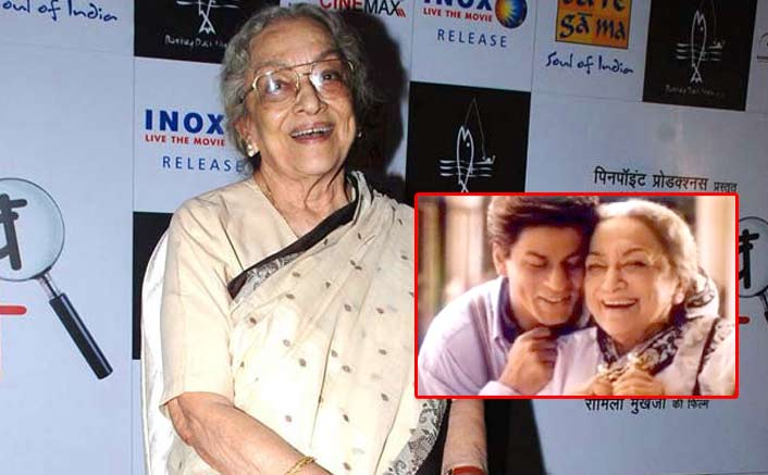 Shah Rukh Khan's On-Screen Grandmother Ava Mukherjee Passes Away At 88