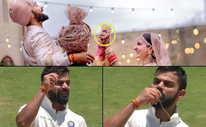 Virat Kisses His Wedding ring On The Field!
