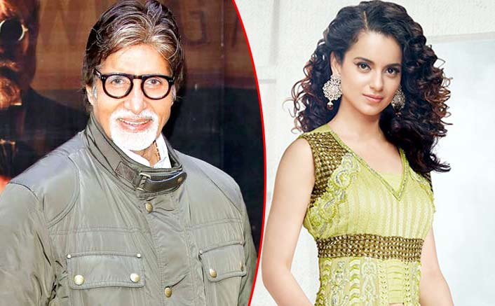 Yay! Kangana Ranaut And Amitabh Bachchan To Be Seen Together In A Film For The First Time