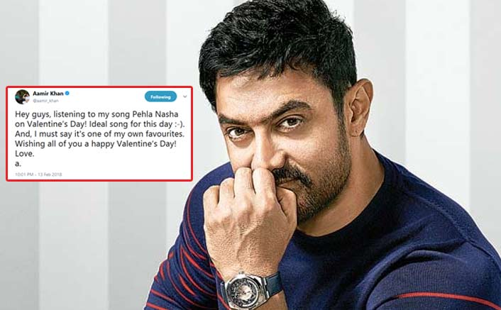 Aamir Khan celebrates Valentine's Day by listening to Pehla Nasha!