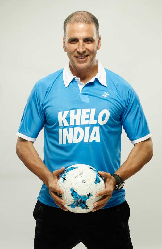 AKSHAY KUMAR SUPPORTS THE KHELO INDIA MOVEMENT