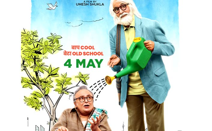 102 Not Out Poster: Amitabh Bachchan & Rishi Kapoor Take The Quirkiness A Notch Higher