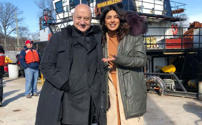 Anupam Kher Visits Priyanka Chopra On The Sets Of Quantico