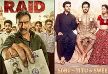 Box Office - Raid and Sonu Ke Titu Ki Sweety jump well on Saturday